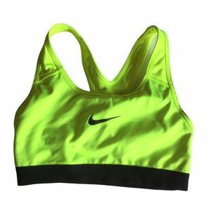 Nike DRI-FIT Neon Yellow Sports Bra Size XS
